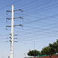 Super Power Pole And Wires by Tom Janca