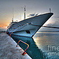 Super Yacht At Nafplion  by Rob Hawkins