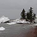 Superior Island View Of Storm by Sandra Updyke