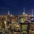 Supermoon Over Manhattan by Lee Dos Santos