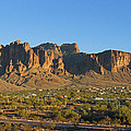 Superstition Mountain In The Evening Sun by Tom Janca