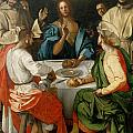 Supper At Emmaus by Jacopo Pontormo