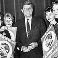 Supporters Greet Kennedy by Underwood Archives