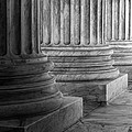 Supreme Court Columns Black And White by Jerry Fornarotto