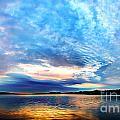 Sureal Pewaukee Lake Sunrise by Andrew Slater
