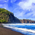 Surf At Pololu Valley Big Island by Dominic Piperata