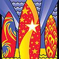Surf Boards Retro Art Deco by Joe Barsin