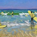 Surf School at St Ives by Andrew Macara