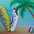 Surf Time I by Pristine Cartera Turkus