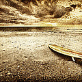 Surfboard On The Beach 2 by Skip Nall
