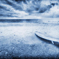 Surfboard On The Beach by Skip Nall