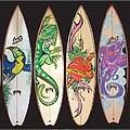 Surfboards Art Jungle by MarceloSouza TattoosnGraphx