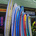 Surfboards At Hanalei Surf by Catherine Sherman