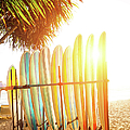 Surfboards At Ocean Beach by Arand