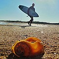 Surfer And Shell Hatteras Lighthouse 3 10/1 by Mark Lemmon