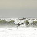 Surfer Beach 91st St Rockaway Queens by Maureen E Ritter