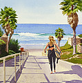 Surfer Girl at Fletcher Cove by Mary Helmreich