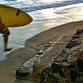 Surfer In Motion by Kathy Corday