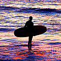 Surfer Silhouette by Davids Digits