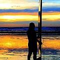 Surfer Sunset by Douglas J Fisher