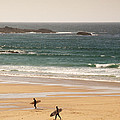 Surfers On Beach 01 by Pixel Chimp