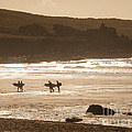 Surfers On Beach 02 by Pixel Chimp