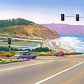 Surfers On Pch At Torrey Pines by Mary Helmreich