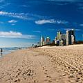 Surfers Paradise Beach By Day by Darren Burton