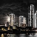 Surfers Paradise By Night by John White