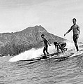 Surfing In Honolulu by Underwood Archives