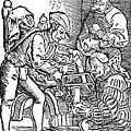 Surgeon Performing An Amputation. Woodcut From An Edition Of Hans Von Gersdoffs Feldtbuch Der Wundartzney, Strassburg, 1540 by Granger