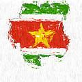 Suriname Painted Flag Map by Antony McAulay