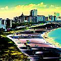 Surreal Colors Of Miami Beach Florida by Elaine Plesser