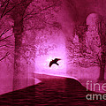Surreal Fantasy Gothic Raven Crow Nature by Kathy Fornal