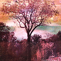 Surreal Fantasy Nature Tree Pink Landscape by Kathy Fornal