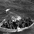 Survivors Of Uss Princeton In Life Boat by Everett