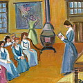 Susan B. Anthony Teaching In Canajoharie by Betty Pieper