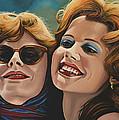 Susan Sarandon And Geena Davies Alias Thelma And Louise by Paul Meijering