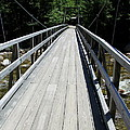 Suspension Bridge Over Pemigewasset River Nh by Christiane Schulze Art And Photography