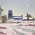 Suzan's Church Painting  by Bill Holkham