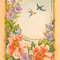 Swallows And Peonies by Lynn Bywaters