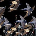 Swallows In The City by George Pedro