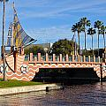 Swan And Dolphin Resort Bridge by Denise Mazzocco