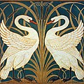 Swan Rush And Iris by Walter Crane