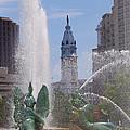 Swann Fountain In Philadelphia by Bill Cannon