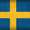 Sweden Flag Vintage Distressed Finish by Design Turnpike