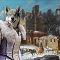 Swedish Elkhound - Jamthund Art Canvas Print  by Sandra Sij
