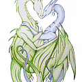 Swedish Love Dragons by Ian  King