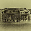 Swedish Parliament In Sepia by Ramon Martinez