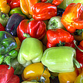 Sweet Bell Peppers Assorted Colors by David Gn